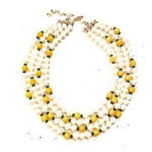Vintage multi strand necklace sugar beads 1950s